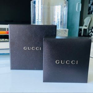 Gucci Brown Empty Watch / Jewelry Box Set.